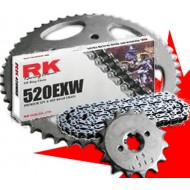 KIT DE TRANSMISION COMPLETO RK CADENA DE RETENES 520EXW COMPETICION
