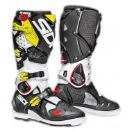 OFFER SIDI BOOTS CROSSFIRE 2 SRS BLACK/ WHITE/FLUO YELLOW