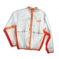 FOX RAIN JACKET FLUID MX CLEAR/ORANGE COLOUR