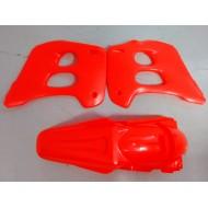 KIT RADIATOR COVERS & REAR FENDER GAS GAS EC125-200-250-300 - 96-99 RED