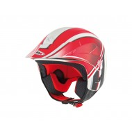 CASCO SH65 K2 GRAPHIC SHIRO ROJO