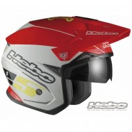 CASCO TRIAL ZONE 5 COLOR ROJO