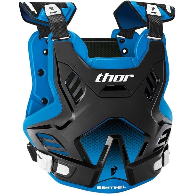 Thor Guardian MX Roost Deflector Motocross Chest Armour Spring 2018 White Schwarz