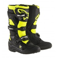 ALPINESTARS YOUTH TECH 7 S BOOTS 2021 BLACK / YELLOW COLOUR