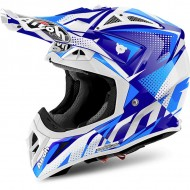 OFFER OFF ROAD HELMET AIROH AVIATOR 2.2 FLASH BLUE GLOSS