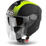 OUTLET CASCO AIROH JET HUNTER SIMPLE AMARILLO MATE
