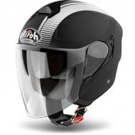 OUTLET CASCO AIROH JET HUNTER SIMPLE NEGRO MATE