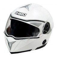 ((OFFER))HELMET SHIRO SH-835 WHITE SIZE M WHITH SMALL DEFECT