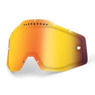 100% GOGGLE LENS VENTED DUAL YELLOW