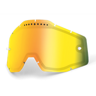 100% GOGGLE LENS VENTED DUAL GOLD MIRROR