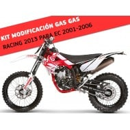 TRANSFORMATION / MODIFICATION KIT TO GAS GAS RACING 2013 (COMPATIBLE WITH GAS GAS EC 2001-2006)