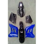 ORIGINAL PLASTIC KIT GAS GAS EC125-200-250-300 - 2000-2006 BLACK/BLUE WITHOUT GRAPHICS