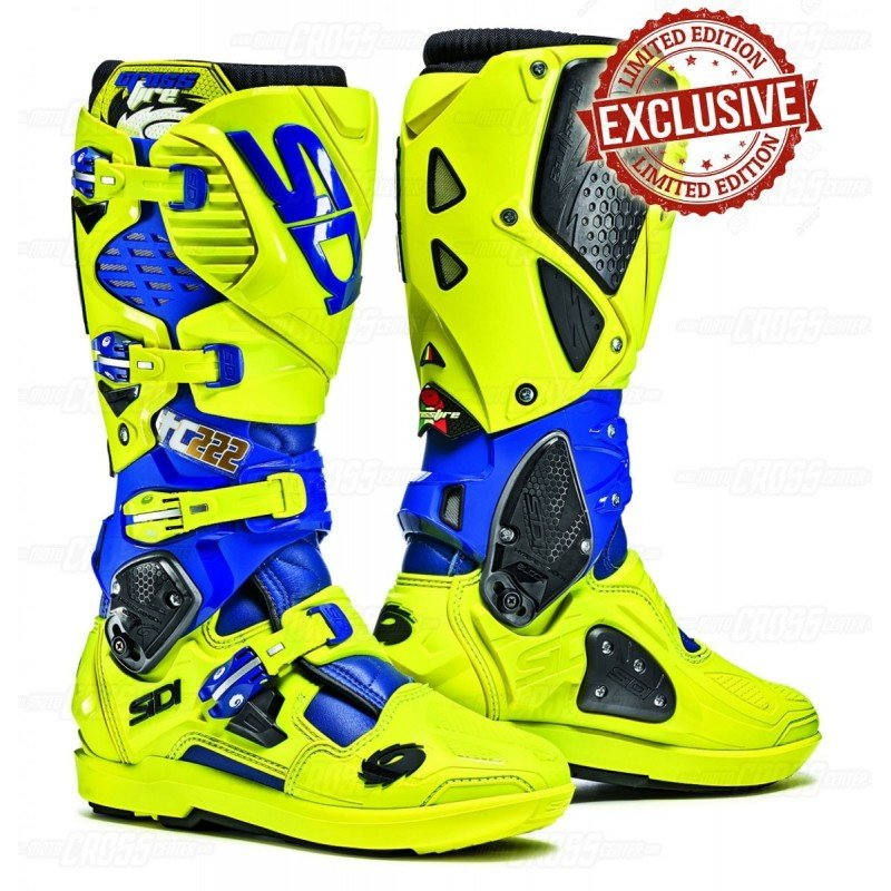 boots sidi crossfire 3 srs replica tony cairoli tc222 blue yellow fluor bosofcairolixx. Black Bedroom Furniture Sets. Home Design Ideas