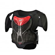 ALPINESTARS A-5 S YOUTH BODY ARMOUR 2021 BLACK / RED COLOUR