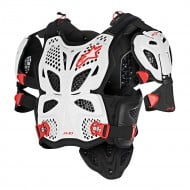 ALPINESTARS A-10 FULL CHEST PROTECTOR 2021 BLACK / WHITE / RED COLOUR