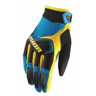 OUTLET GUANTES INFANTILES THOR SPECTRUM OFFROAD 2019 AZUL/NEGRO