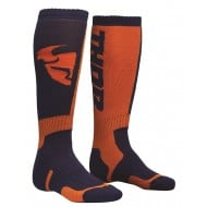 THOR YOUTH SOCK MX NAVY/ORANGE - ONE SIZE