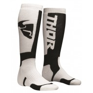 THOR YOUTH SOCK MX WHITE/BLACK - ONE SIZE