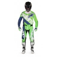 OFFER COMBO ALPINESTARS TECHSTAR VENOM COLOR FLUO GREEN / WHITE / DARK BLUE