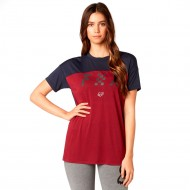 CAMISETA FOX RODKA TOP COLOR ROJO OSCURO
