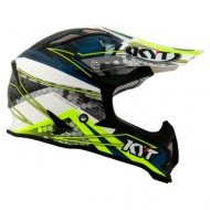 KYT HELMET STRIKE EAGLE WEB WHITE/BLUE