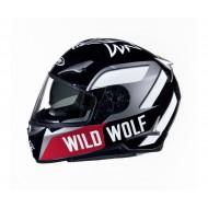 (OFFER) ROAD FULL FACE HELMET SHIRO SH715 WILD WOLF SIZE S