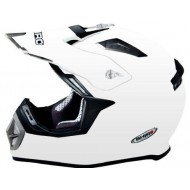 (OFFER) HELMET SHIRO MONOCOLOR SH-912 WHITE - MX-911 SIZE XL