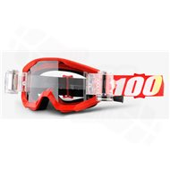 100% STRATA MUD GOGGLES - FURNACE RED SVS CLEAR LENS