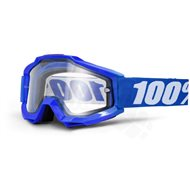 GOGGLE 100% ACCURI REFLEX BLUE ENDURO CLEAR LENS