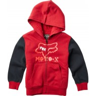 OUTLET SUDADERA INFANTIL FOX SUPERCHARGED SHERPA COLOR ROJO
