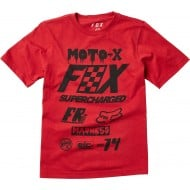 OFFER FOX YOUTH CZAR SS TEE COLOR ROJO