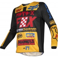 OFFER FOX 180 CZAR 2019 JERSEY COLOR BLACK / YELLOW
