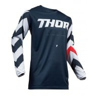 OFFER THOR PULSE STUNNER S9 OFFROAD JERSEY 2019 MIDNIGHT/WHITE