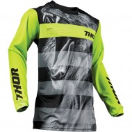 OFFER THOR YOUTH PULSE SAVAGE BIG KAT S9Y OFFROAD JERSEY 2019 BLACK/LIME