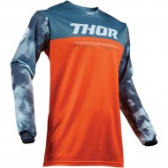OFFER THOR YOUTH PULSE AIR ACID S9Y OFFROAD JERSEY 2019 RED ORANGE/SLATE