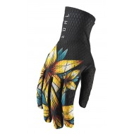 OUTLET GUANTES THOR AGILE FLORAL S9 OFFROAD 2019 NEGRO
