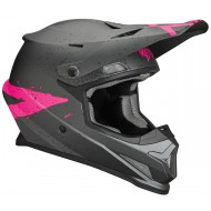 OFFER THOR SECTOR HYPE OFFROAD HELMET CHARCOAL/PINK
