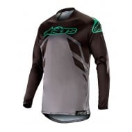 ALPINESTARS RACER TECH COMPASS JERSEY 2019 COLOR BLACK / MID GRAY / TEAL
