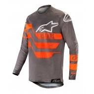 ALPINESTARS RACER FLAGSHIP JERSEY 2019 COLOR MID GRAY / ANTHRACITE / ORANGE FLUO