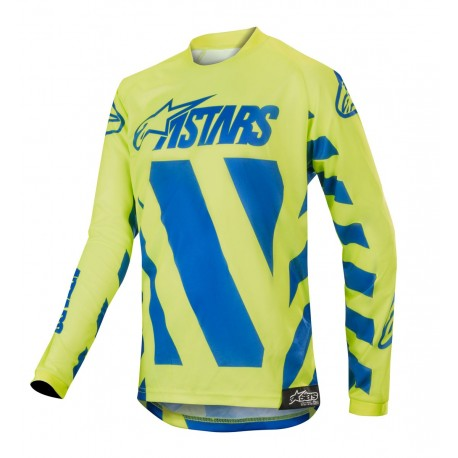 d566aa225f9 Youth Alpinestars Racer Braap Jersey 2019 Color Blue Yellow Fluo