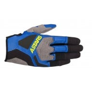 OFFER ALPINESTARS VENTURE R GLOVES 2020 COLOR BLUE / YELLOW FLUOR
