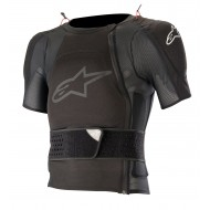 OFFER ALPINESTARS SEQUENCE PROTECTION JACKET SHORT SLEEVE 2020 BLACK COLOUR