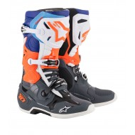 BOTAS ALPINESTARS TECH 10 2019 COLOR GRIS / NARANJA FLUOR /