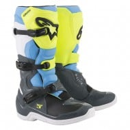 OFFER ALPINESTARS TECH 3 BOOTS 2020 COOL GRAY / YELLOW FLUO / CYAN COLOUR
