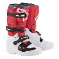 OFFER ALPINESTARS TECH 7S YOUTH BOOTS 2020 WHITE / RED / GRAY COLOUR