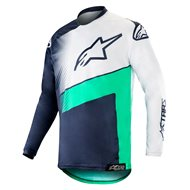 ALPINESTARS RACER SUPERMATIC JERSEY 2019 COLOR DARK NAVY / TEAL / WHITE