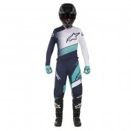 OFFER COMBO ALPINESTARS RACER SUPERMATIC 2019 COLOR DARK NAVY / TEAL / WHITE