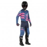 OFFER COMBO ALPINESTARS RACER FLAGSHIP 2019 COLOR INDIGO / DARK NAVY / PINK FLUO