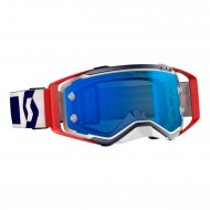 OFFER SCOTT PROSPECT GOGGLE COLOR RED / BLUE - ELECTRIC BLUE CHROME WORKS LENS