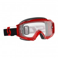 OFFER SCOTT HUSTLE X MX GOGGLE 2019 COLOR RED / WHITE - CLEAR WORKS LENS